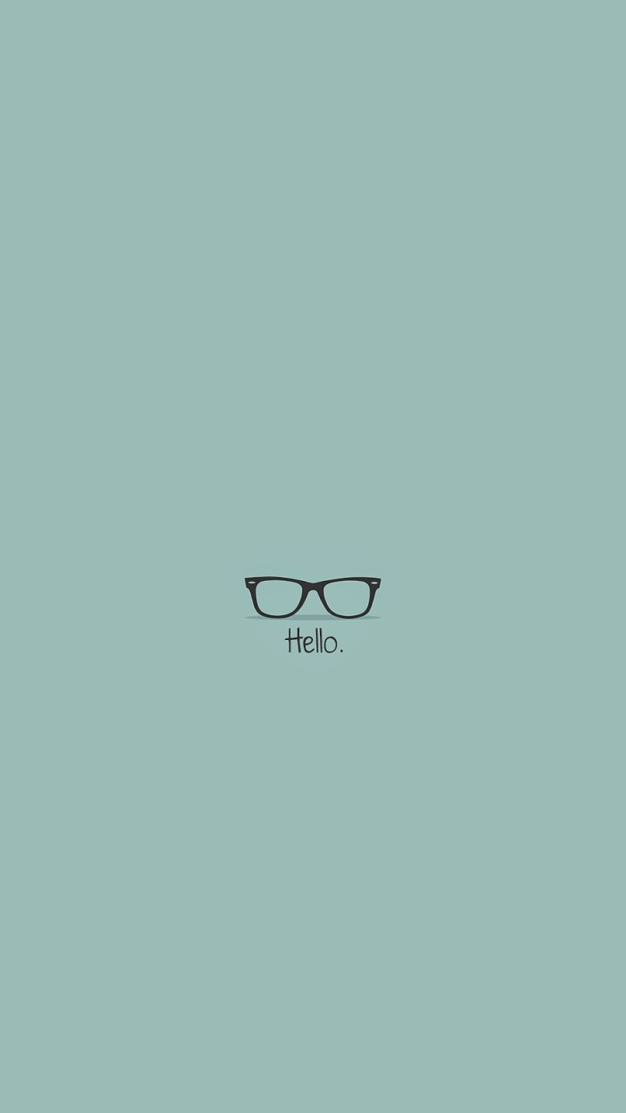 Hipster Glasses Hello iPhone 6 Wallpaper