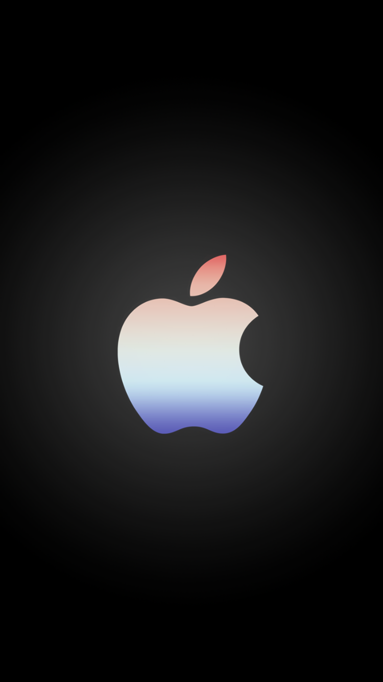 Mac Apple Logo Gradient iPhone 6 Wallpaper