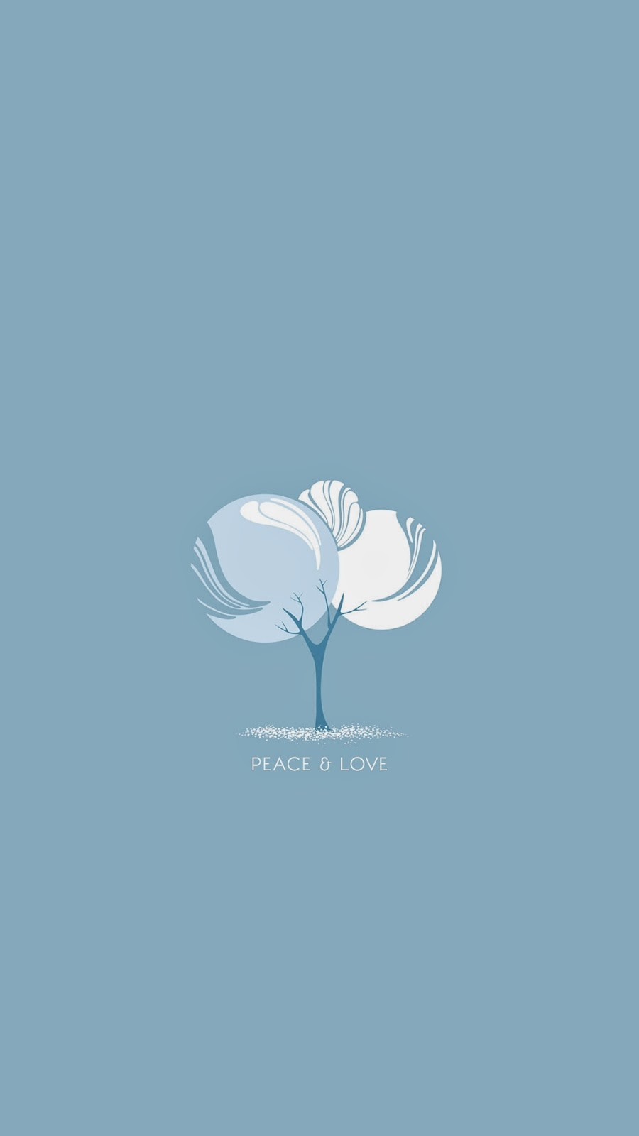 Peace and Love Blue Background iPhone 6 Plus Wallpaper